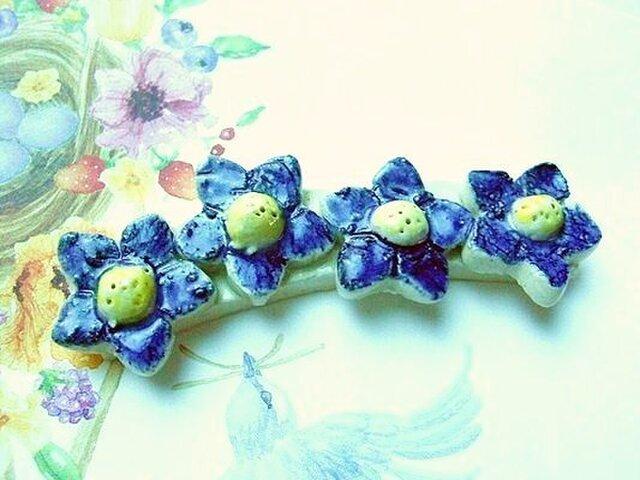 ◆◇◆ブルーの花のロング箸置きの画像1枚目