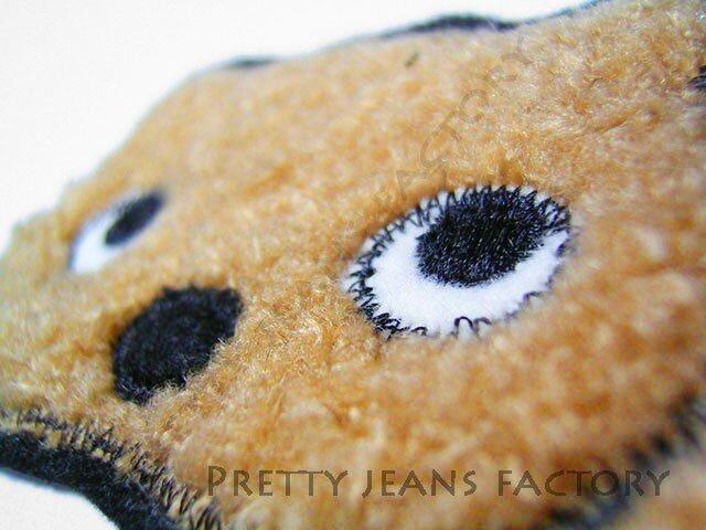 ★可愛い瞳の★クマのアップリケ刺しゅう★アイロン接着★4の画像1枚目