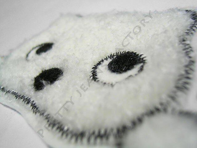 ★可愛い瞳の★クマのアップリケ刺しゅう★アイロン接着★3の画像1枚目