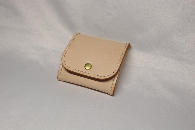 ヌメ革 ボックス型コインケース(ナチュラル色)の画像1枚目