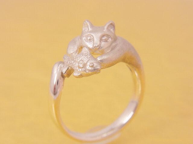 どろぼう猫のリング/シルバーリング/sv925の画像1枚目