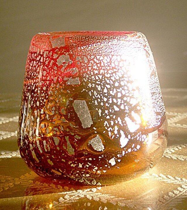 flower vase pink&goldの画像1枚目