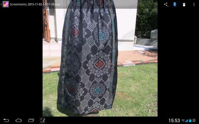 村山大島 ギャザースカート … 裏付き …1点品の画像1枚目