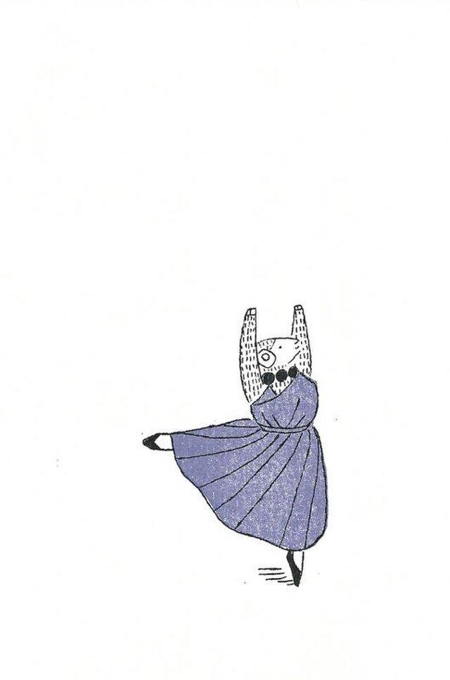 冬のポストカードセット-青いドレスの羊の画像1枚目