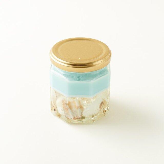 海を感じる貝殻ジェルキャンドルの画像1枚目