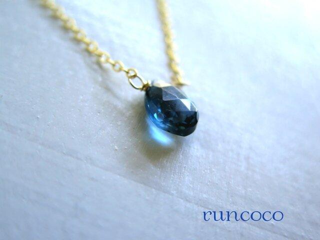 「11月誕生石」ロンドンブルートパーズ 14kgf 魅惑のブルーの画像1枚目