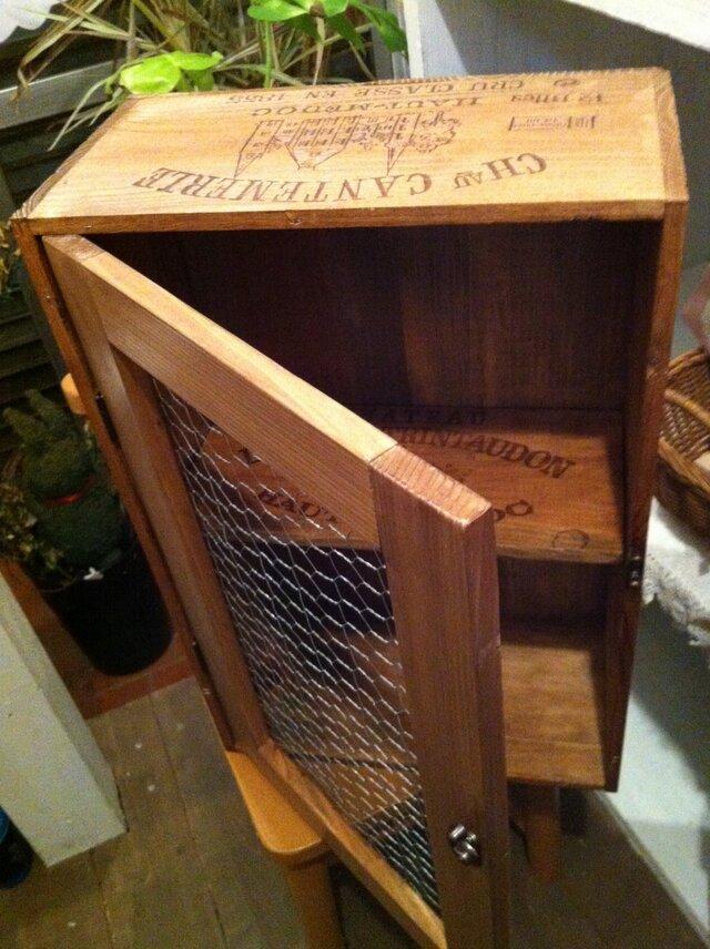 ワイン木箱のシェルフの画像1枚目