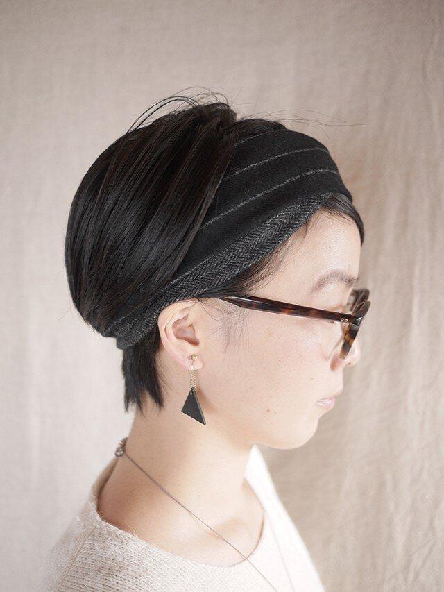 resale▼ patchwork turban <blacktone>の画像1枚目