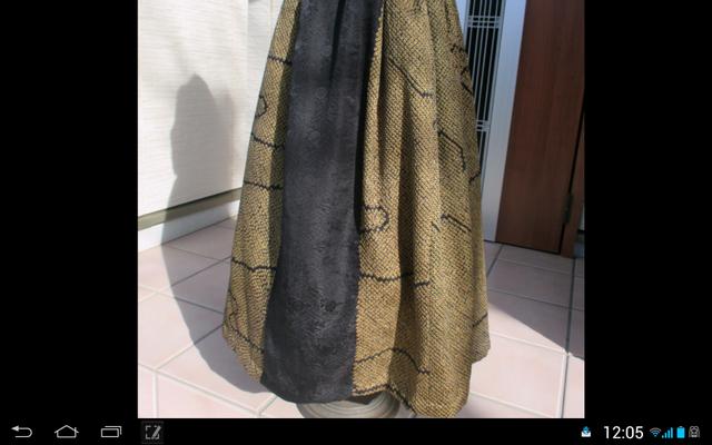 シックな着物リメーク・ロングスカート… 裏付き … 一点品の画像1枚目