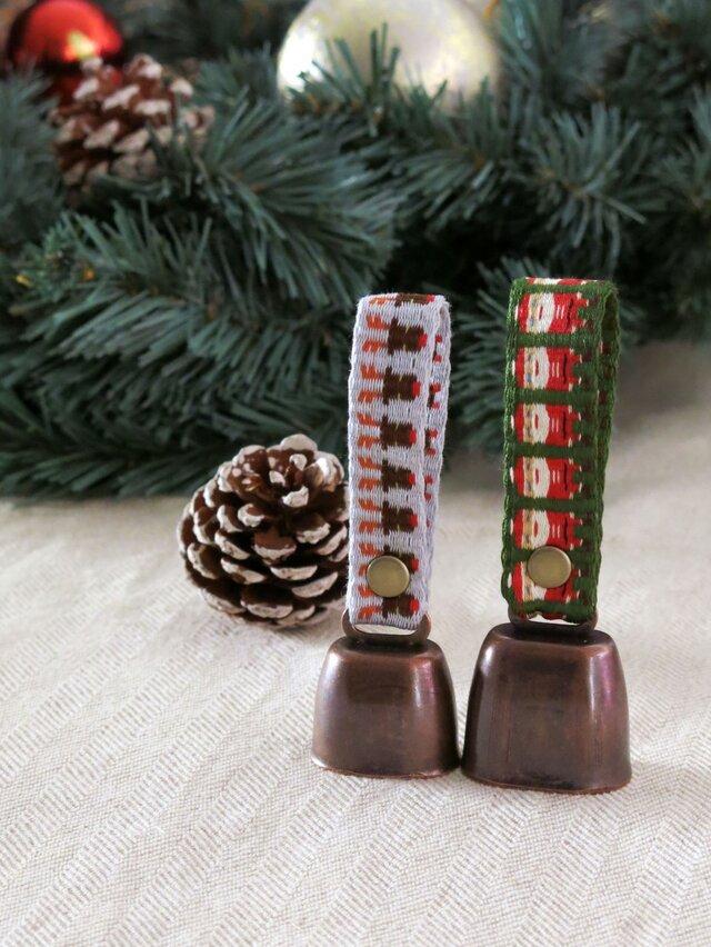 クリスマス*ベル ペアセット ::サンタとトナカイ::の画像1枚目