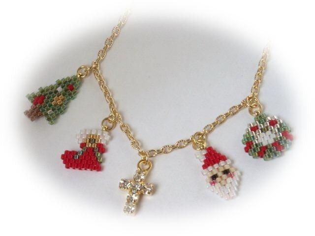 クリスマス☆ネックレスの画像1枚目