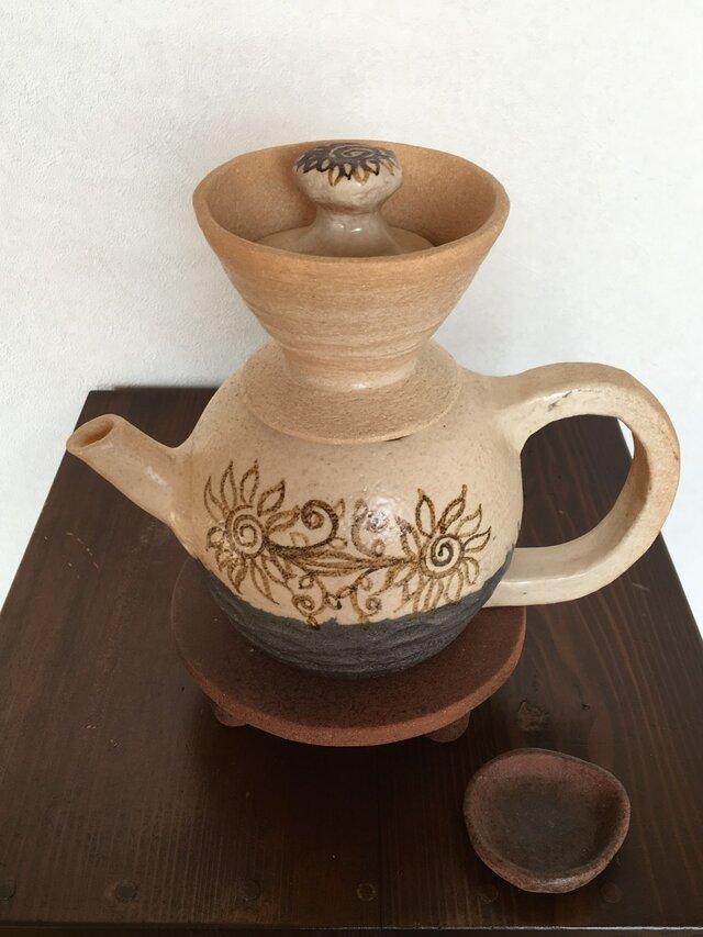 ひまわり陶器どりっぷセットの画像1枚目