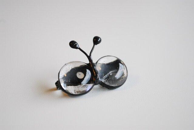 ガラスの蝶のブローチ④の画像1枚目