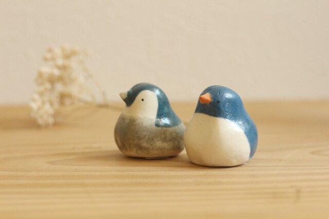《再販》新色!ペンギンのおやこセット ブルーの画像1枚目