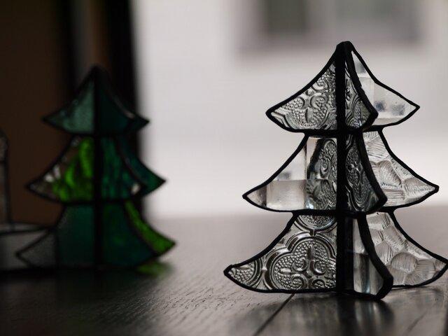 ステンドグラス クリスマスツリー eの画像1枚目
