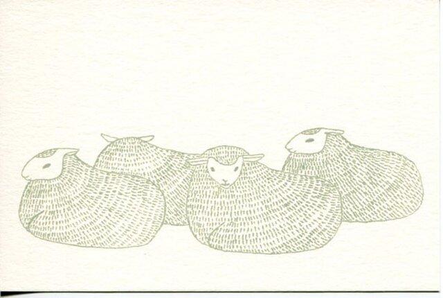 ポストカードセット-羊たちの画像1枚目