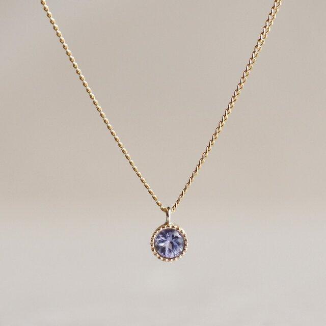 K10 Tanzanite birth stone pendant {P033K10TZ}の画像1枚目