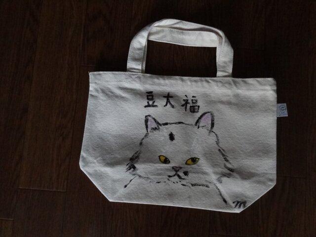 オリジナル手描き猫バッグBの画像1枚目