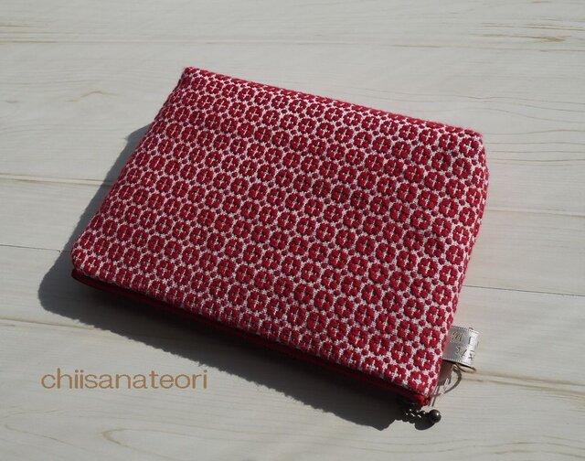 手織り布のポーチ(大)の画像1枚目
