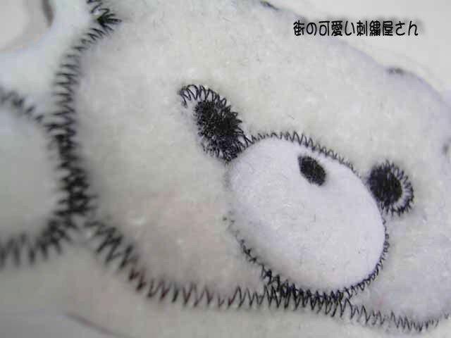 ★可愛い瞳の★クマのアップリケ刺しゅう★アイロン接着★6の画像1枚目