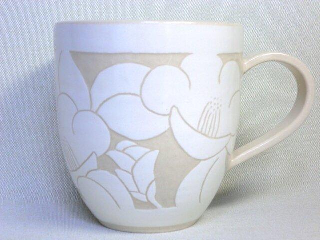 椿のマグカップ(白) の画像1枚目