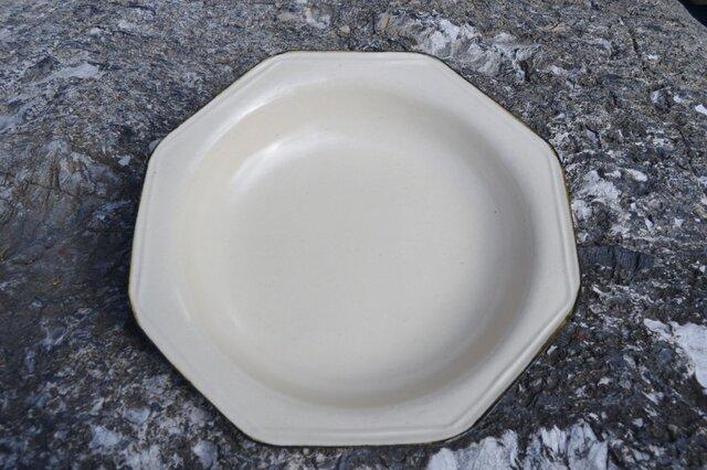 白荒土八角大鉢の画像1枚目
