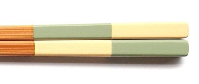 竹・自然塗料箸 06-22いちまつ2 バニラとメロンの画像1枚目