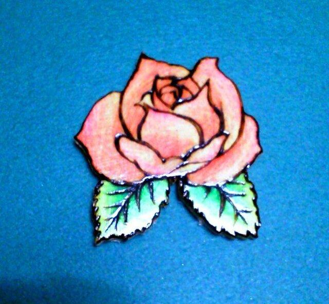 バラのブローチの画像1枚目
