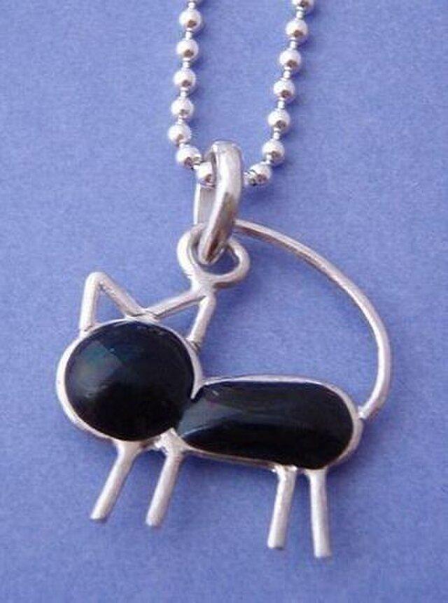 猫のネックレス(黒猫)の画像1枚目
