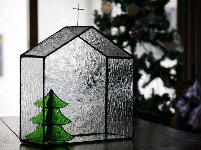【yさまオーダー品】教会型飾り棚 ツリーの画像1枚目