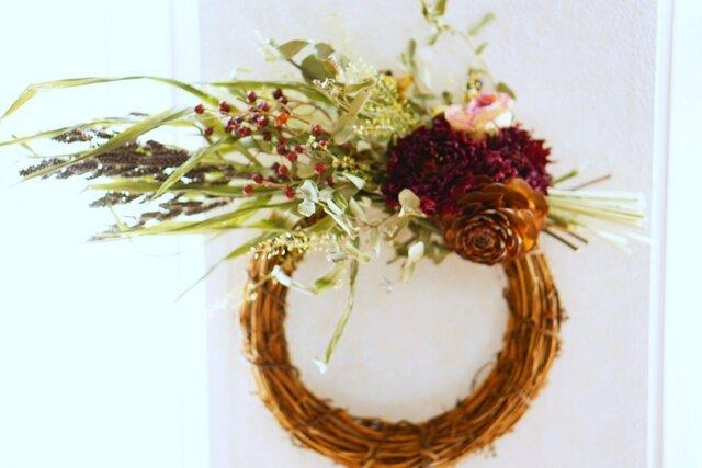 冬。。 wreath purple×green の画像1枚目