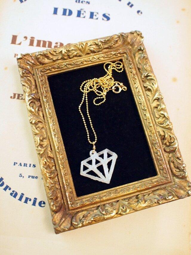 diamond motif necklaceの画像1枚目
