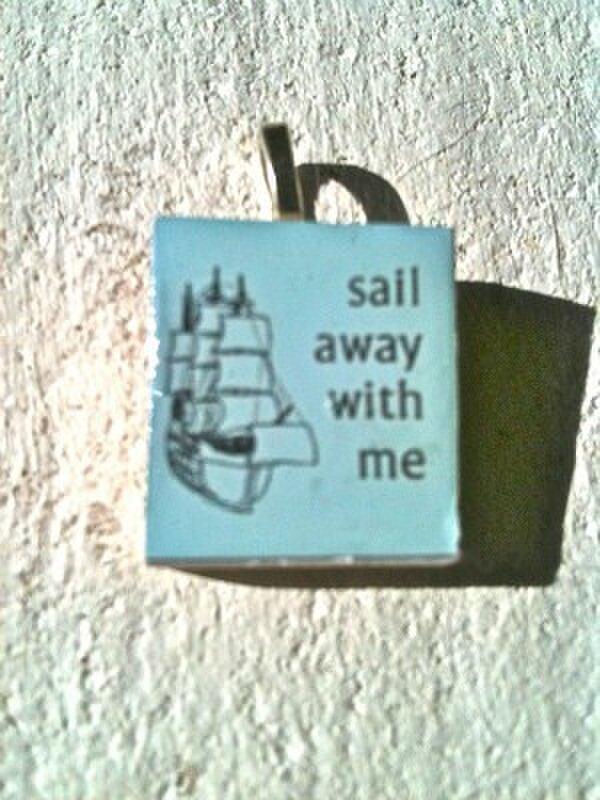 sail away with me  スクラブルタイルの画像1枚目