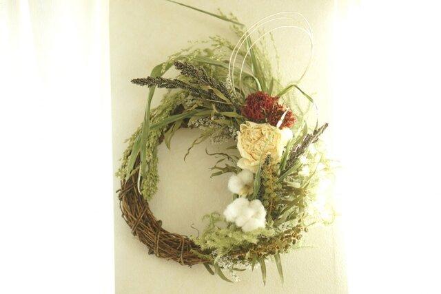 冬。。wreath orange×ivoryの画像1枚目