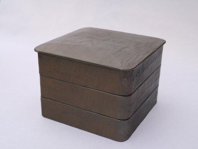 #0192 三段重箱 薄白の画像1枚目