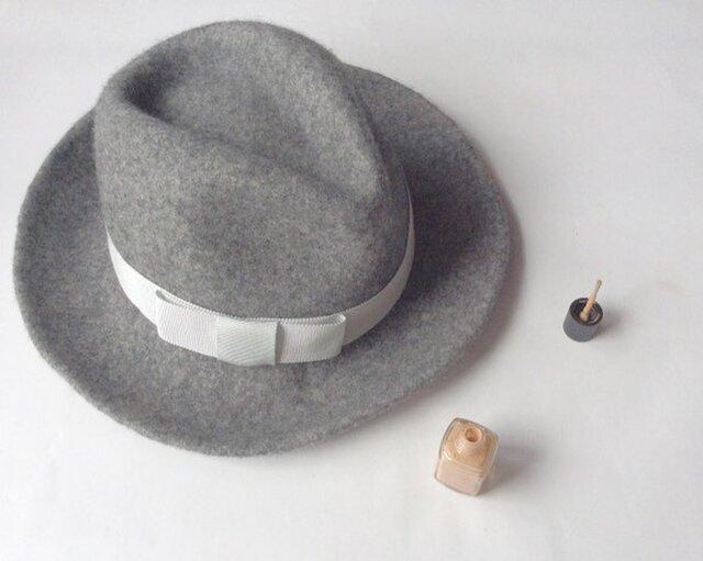 Wool Hat (gray)の画像1枚目