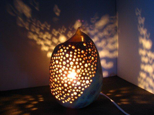 【送料無料】陶器の灯り(35)の画像1枚目