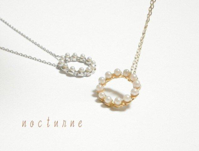 パールリングのネックレス~Gold&Silverの画像1枚目