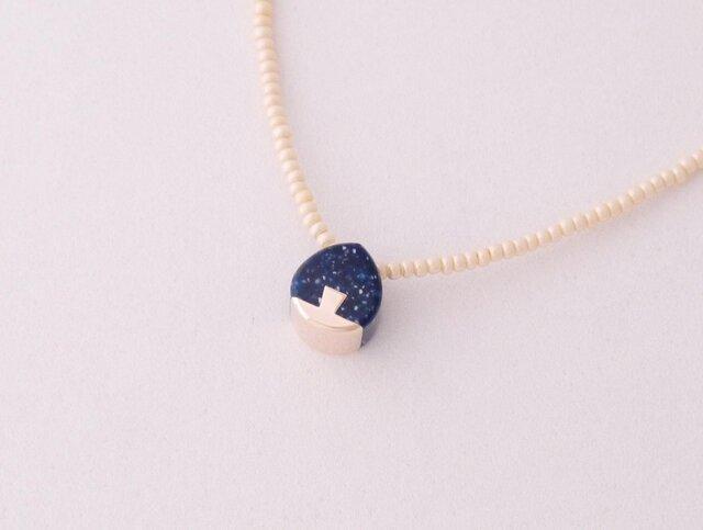 ネックレス Drop mini   Night blue S12の画像1枚目