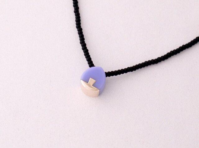 ネックレス Drop mini   Purple S13の画像1枚目