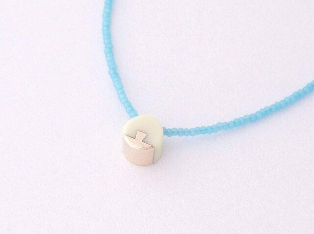 ネックレス Drop mini   Milky white S10の画像1枚目