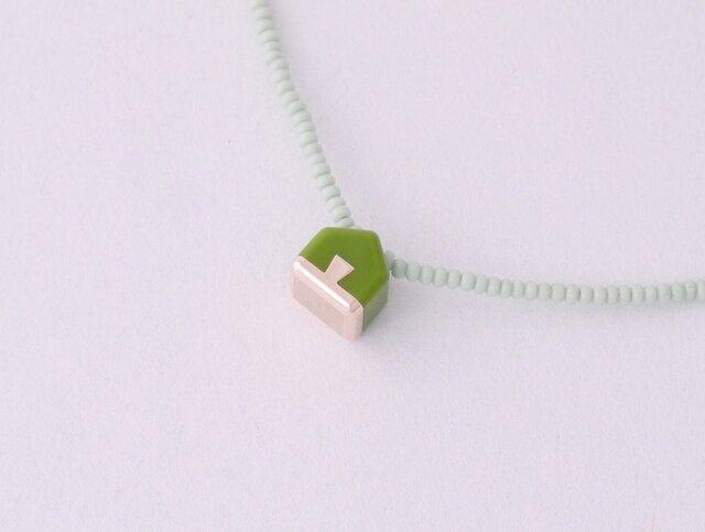 ネックレス Home mini   Green S11の画像1枚目