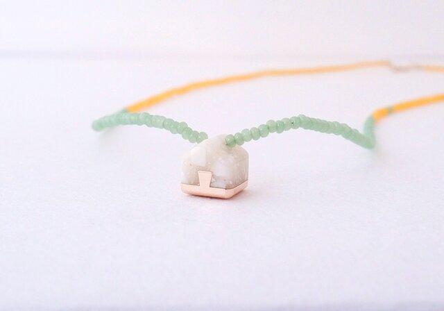 ネックレス Home mini   White nuts S05の画像1枚目