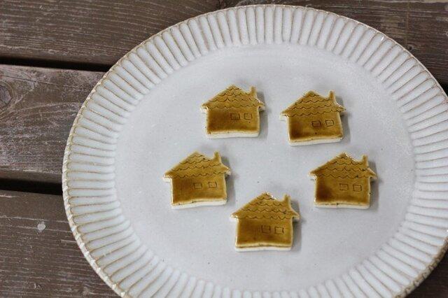 お家のお箸置き 5個セット ブラウン の画像1枚目