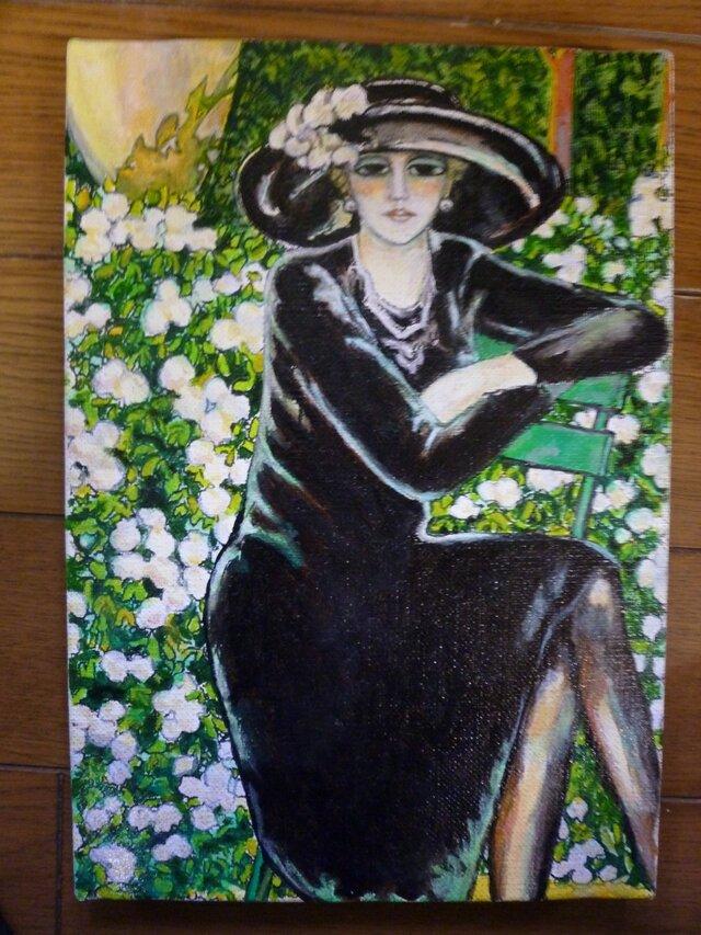 カシニョール「黒い帽子」模写の画像1枚目