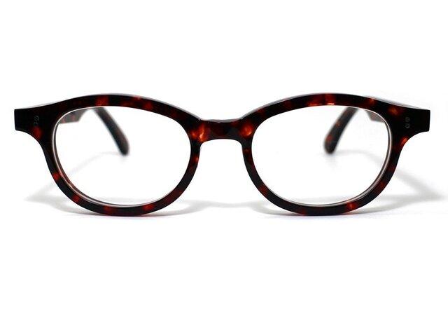 (体の大きい人向け)琥珀のような柄のセルロイドメガネ068-AAの画像1枚目