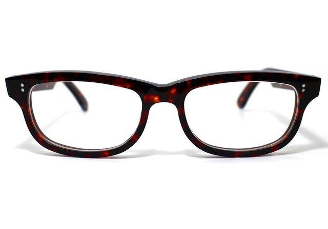 (体の大きい人向け)琥珀のような柄のセルロイドメガネ050-AAの画像1枚目