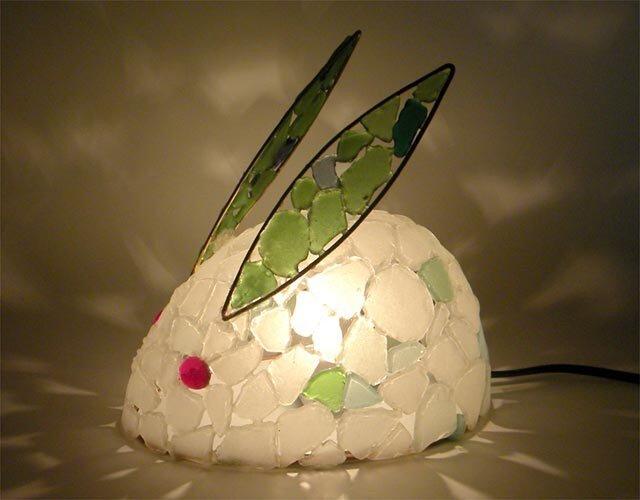 シーグラスランプ 雪うさぎのランプ-12の画像1枚目