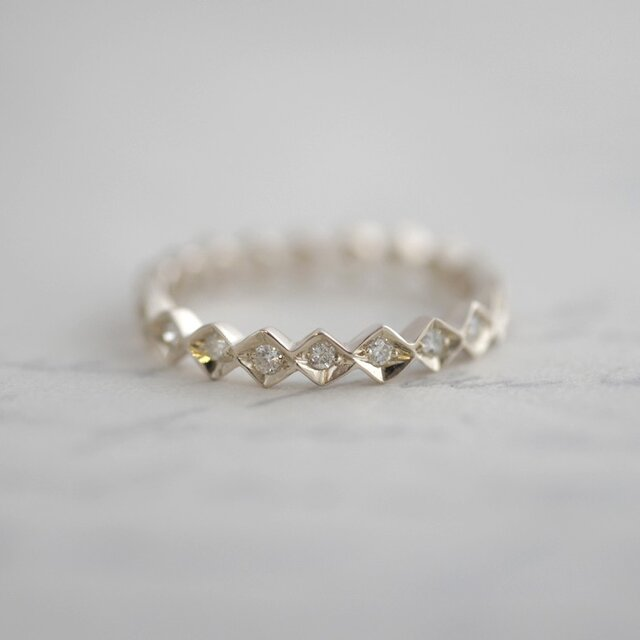 K10WG Eternity ring {R043K10WG}の画像1枚目
