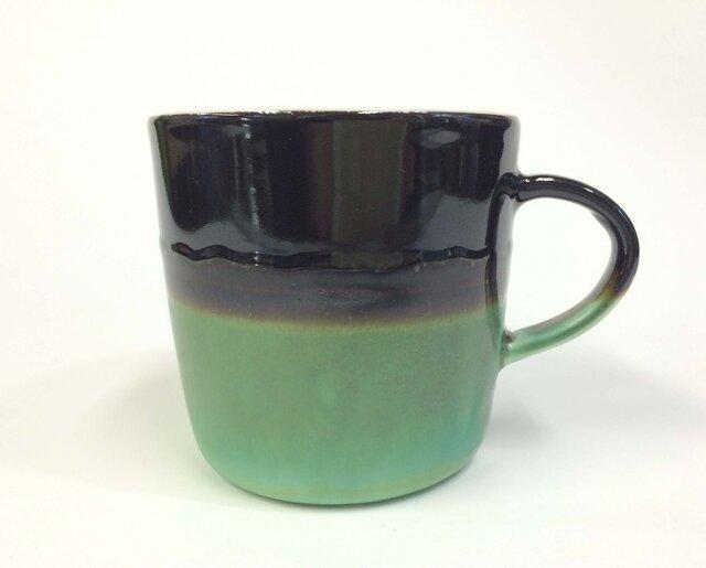Meoto cup/M ''Mug''(Kuro tenmoku-bronze)の画像1枚目